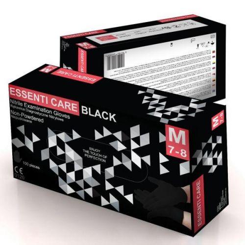 Результативный Перчатки нитриловые неопудренные Essenti Care (M), черный заказать в интернет магазине