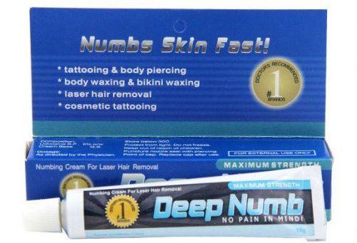 Результативный Deep Numb (Blue), Крем - анестетик, 10g заказать в интернет магазине