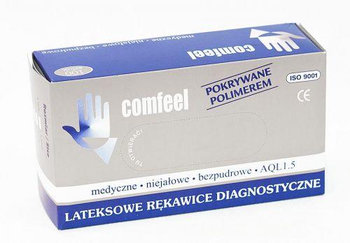 Быстродействующий Перчатки латексные припудренные Comfeel (M) с доставкой