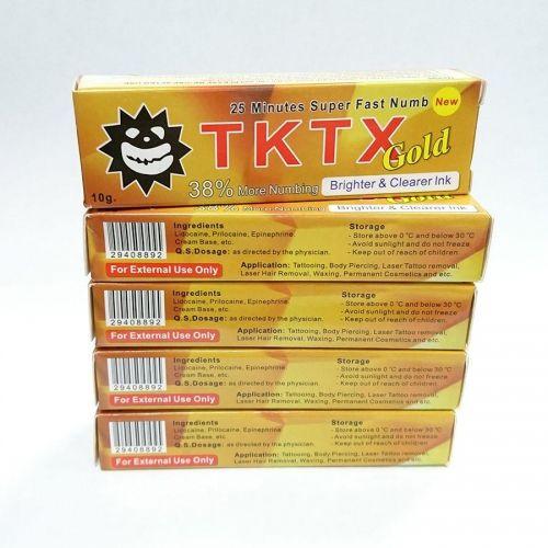 Результативный TKTX Gold 38%, Крем - анестетик, 10g заказать в интернет магазине